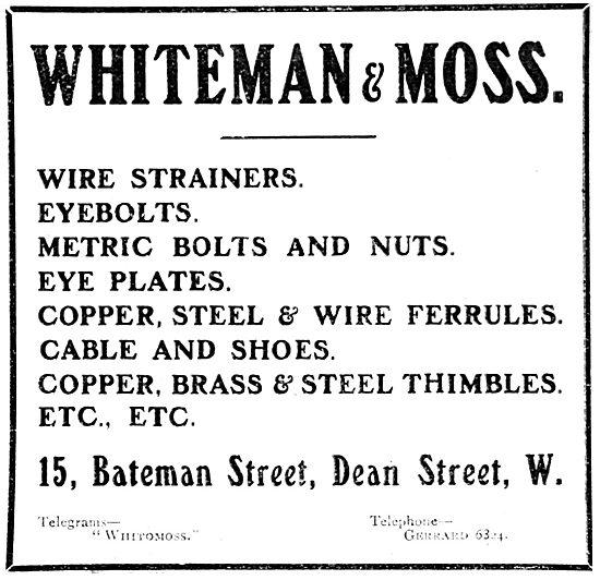 Whiteman & Moss Aircraft Parts