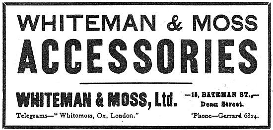 Whiteman & Moss Aircraft Accessories 1913