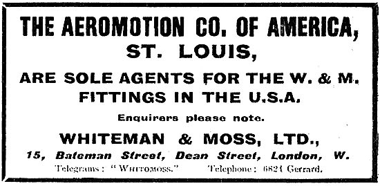 The Aeromotion Co Of St Loius Are Sole USA  Agents For W & M