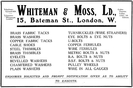 Whiteman & Moss AGS Parts