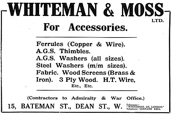 Whiteman & Moss - AGS Parts & Accessories