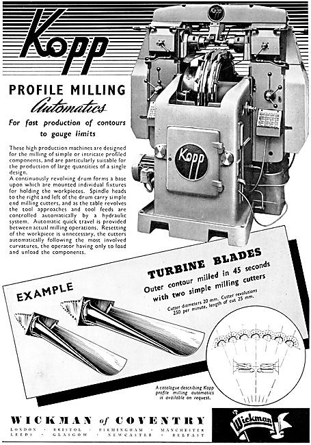 Wickman KOPP Profile Milling Machine