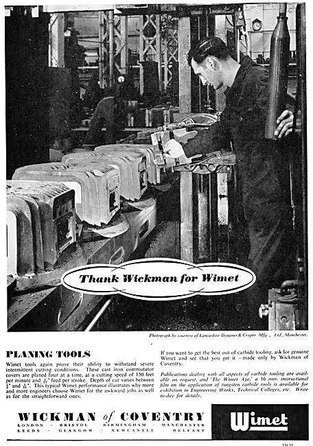 Wickman Machine Tools & Test Equipment. WIMET Tools