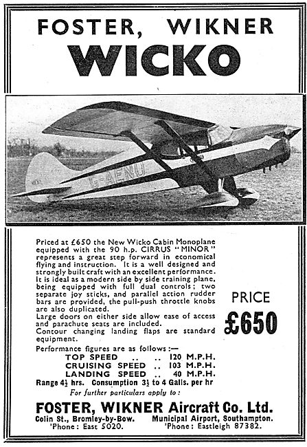 Wicko Cabin Monoplane - Southampton