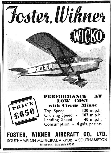Foster, Wikner Aircraft Co - Wicko G-AENU