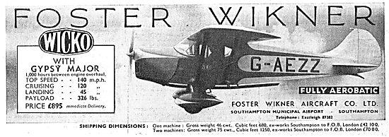 Foster Wickner Wicko - G-AEZZ