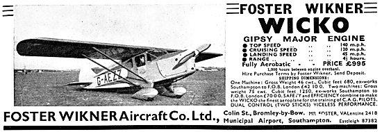 Foster Wikner Wicko 1939 Advert