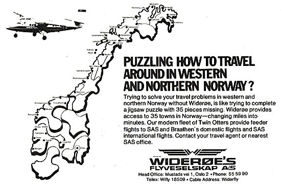 Wideroe Airlines For Travel Around Western & Northern Norway