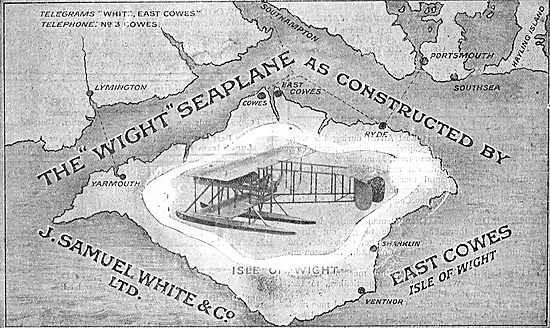 The Wight Seaplane Constructed By J.Samuel White & Co