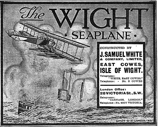 The Wight Seaplane - Esat Cowes Isle Of Wight