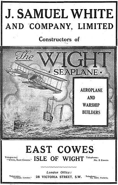 J.Samuel Wight & Co. Builders Of Aeroplanes & Warships