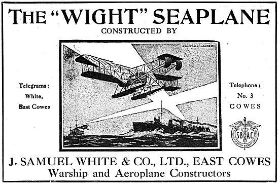 The Wight Seaplane - WW1 Advertisement