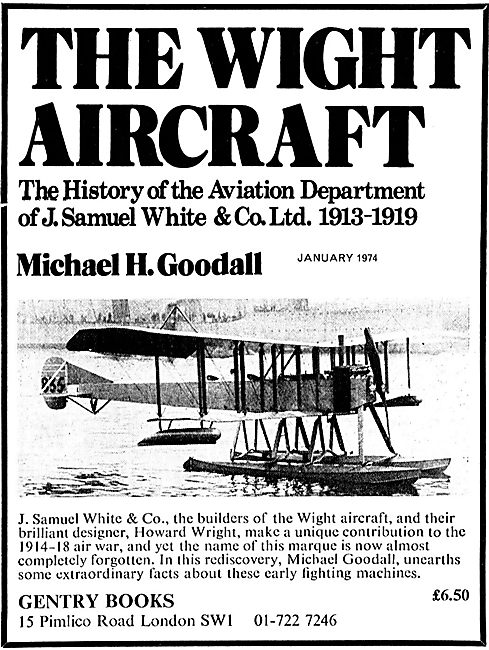 The Wight Aircraft By Michael Goodall