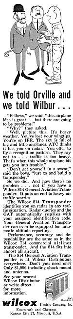Wilcox Avionics - Wilcox 814 Transponder