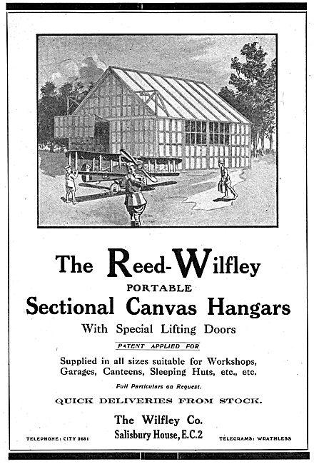 Reed-Wilfley Sectional Canvas Aircraft Hangars