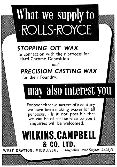 Wilkins,Cambell. Stopping Off Wax For Hard Chrome Deposition