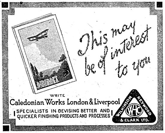 Wilkinson Heywood: Aircraft Finishes