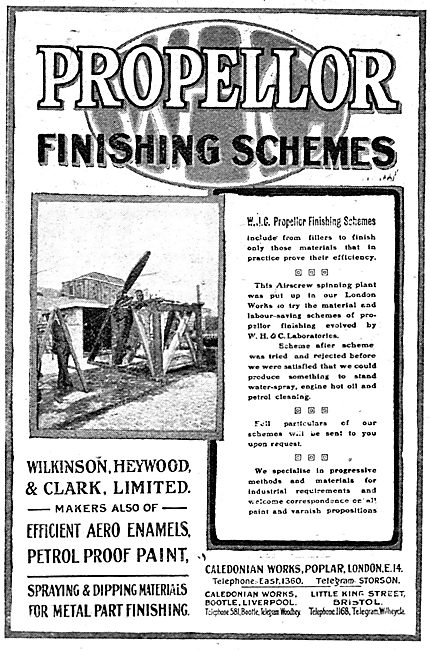 Wilkinson Heywood & Clark: Propellor Varnishing Schemes