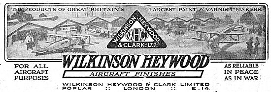 Wilkinson Heywood: Finishes For All Aircraft Purposes