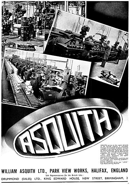 William Asquith. Halifax. Machine Tools