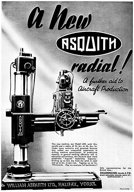 William Asquith Machine Tools. Radial Drilling Machine