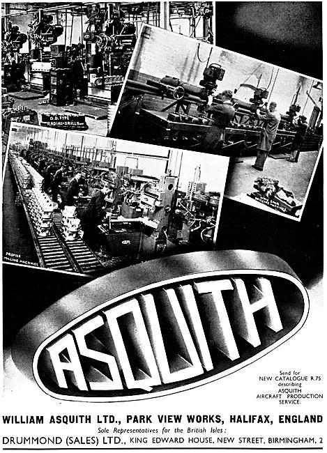 William Asquith Machine Tools - Engineering Machinery