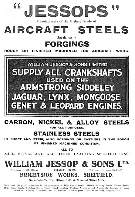 William Jessop Aircraft Steel Forgings