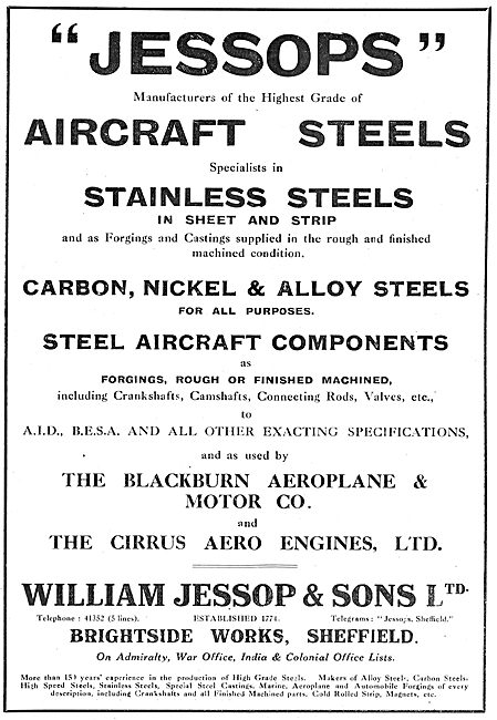 William Jessop Aircraft Steels