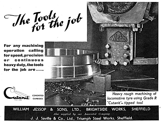 William Jessop Cutanit Machine Tool Tips 1947