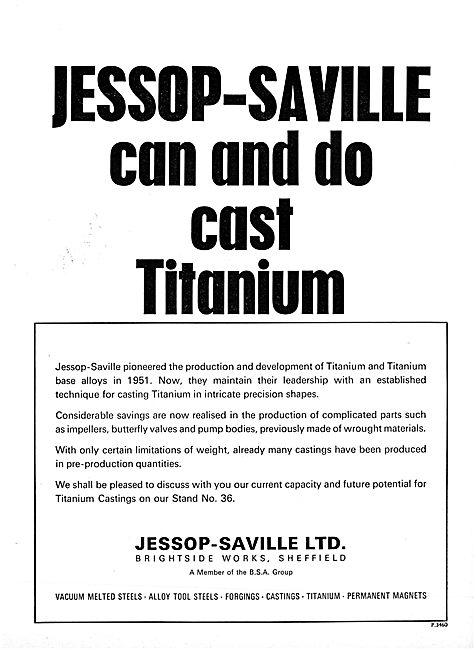 Jessop-Saville Steels - Vacuum Melted Steels. Forgings & Castings