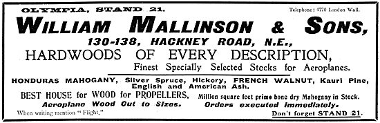 William Mallinson & Sons. Wood Merchants & Wood Workers