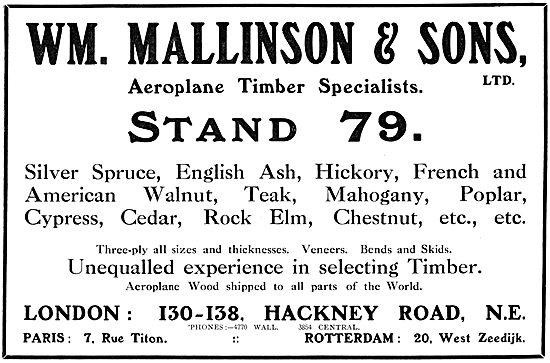 William Mallinson. Aeroplane Timber Specialists