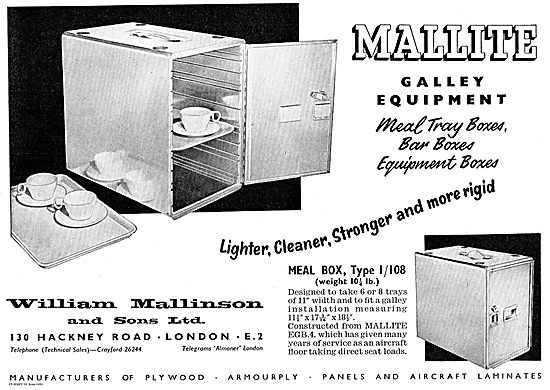 William Mallinson Galley Equipment For Airliners
