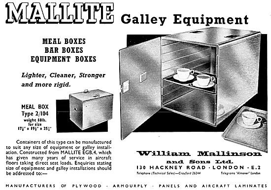 William Mallinson Mallite Aircraft Galley Equipment