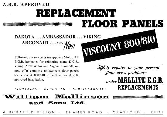 William Mallinson Mallite Aircraft Floors - Wood Laminates