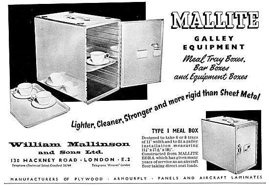 William Mallinson Aircraft Galley Equipment