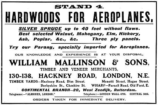 William Mallinson - Wood, Timber & Veneers For Aeroplanes