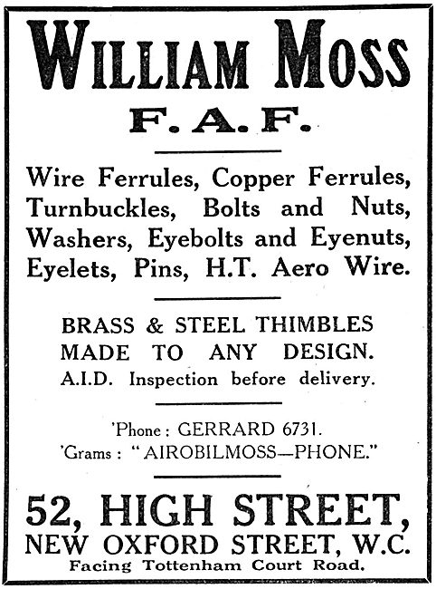William Moss F.A.F. AGS Parts & Accessories