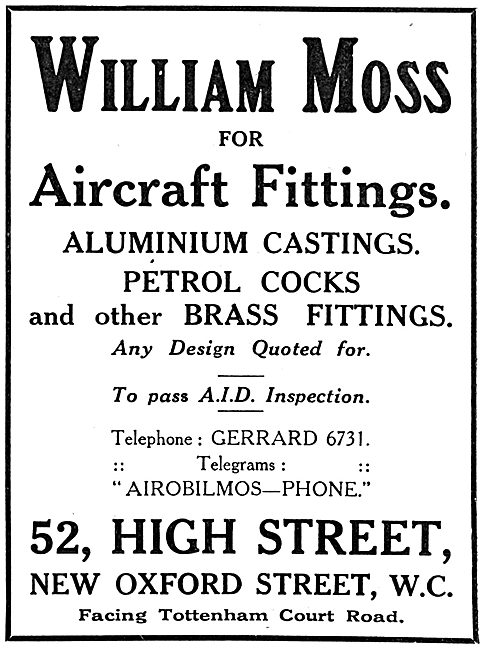William Moss - Aircraft Fittings