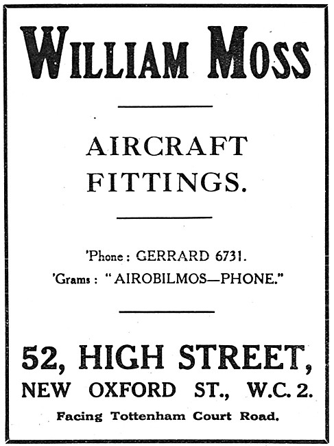William Moss. Aircraft Fittings F.A.F. AGS Parts & Accessories