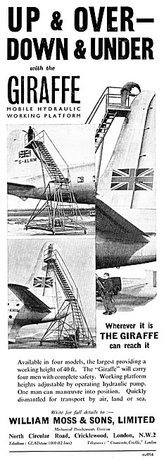 William Moss Giraffe Aircraft Servicing Platform
