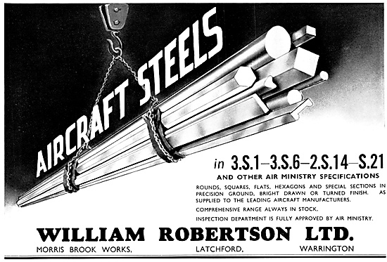William Robertson Aircraft Steels