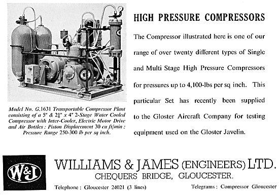 Williams & James Pneumatic Compressors