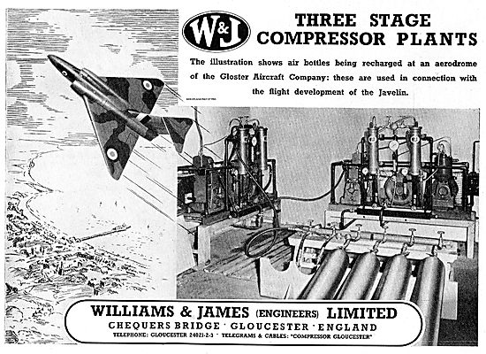 Williams & James Three Stage Compressor Plants For Javelin Work