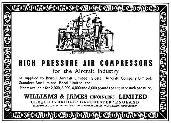 Williams & James Engineers Pneumatic Equipment. Machining