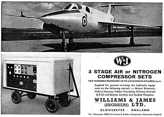 Williams & James 3 Stage Air / Nitrogen Compressor Sets