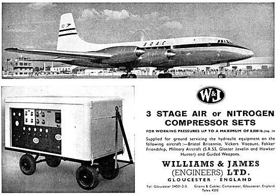 Williams & James Engineers Air Compressors