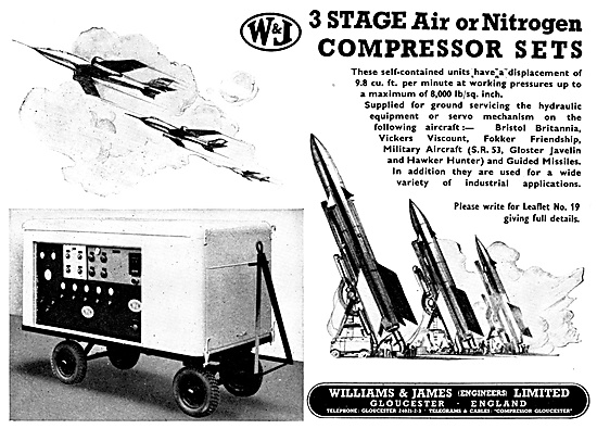 Williams & James Engineers 3 Stage Compressors