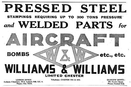 Williams & Williams - Aeronautical Engineers. Sheet Metal Work