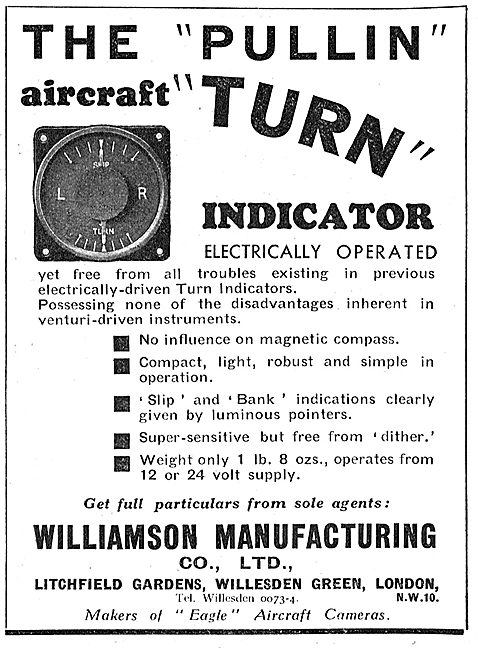 The Pullin Electrically Operated Aircraft Turn Indicator
